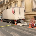 The commercial was produced by Onirim Production and shot in Paris on July 21, 2010.  We were cordially welcomed by producer Geoffroy Guillaumaud.  A small generator truck from Panalux in the background provided the power