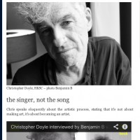 Christopher Doyle video interview part 1