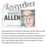 Woody Allen: Unconscious Writing