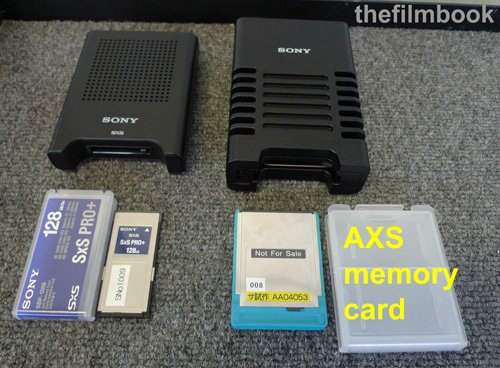 2 Sony readers SxS and AXS -thefilmbook-