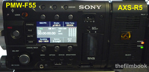 Sony F55 with AXS-R5 Raw recorder -thefilmbook-