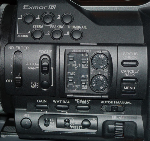 Sony Z100 left side controls -thefilmbook-