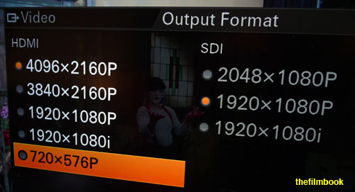 Sony Z100 output formats -thefilmbook