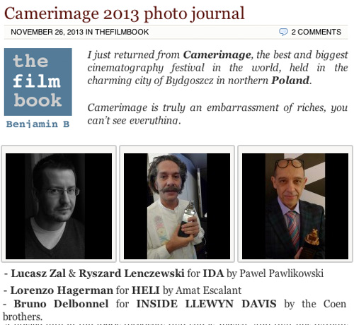 camerimage 2013 photo journal benjamin b -thefilmbook