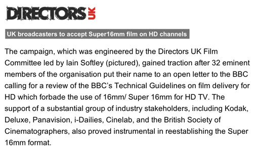 directors uk get 16mm approved again by BBC -thefilmbook-