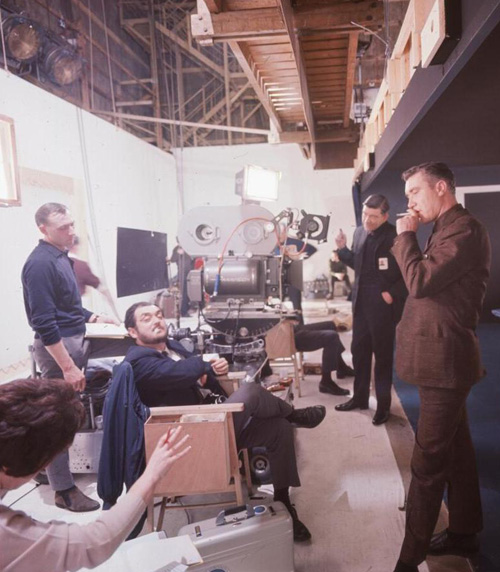 Kubrick on the set of 2001-