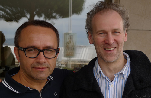 Andrei Zvyagintsev and Mikhail Krichman Cannes 2014 photo Benjamin B-