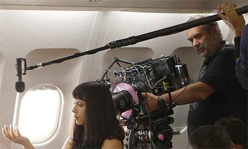 Luc Besson operating on Lucy-