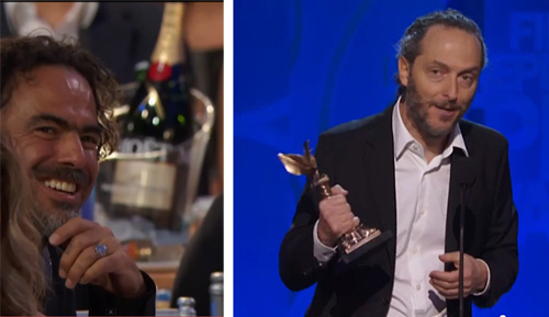 Emmanuel Lubezki accepts Spirit Award and thanks Alejandro Inarritu -thefilmbook-