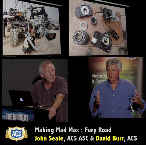 Making of Mad Max Fury Road - John Seale and David Burr ACS -thefilmbook-